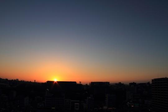 夕方の空のグラデーション