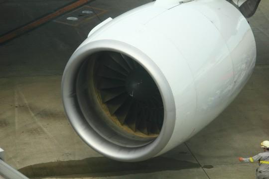 飛行機のエンジン部分