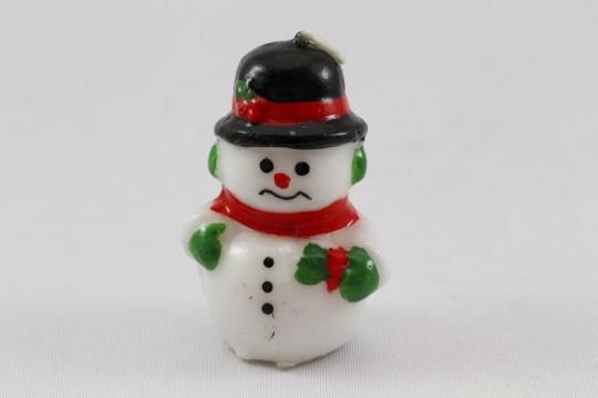 雪だるま型のロウソク2