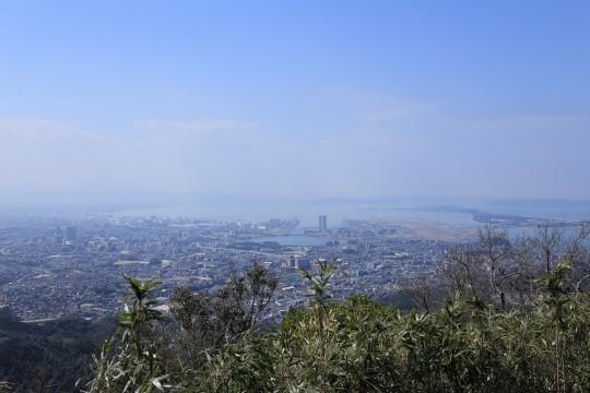 山頂から見た福岡市