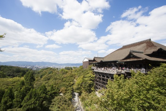 清水寺と青空