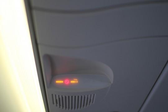 機内の禁煙サイン