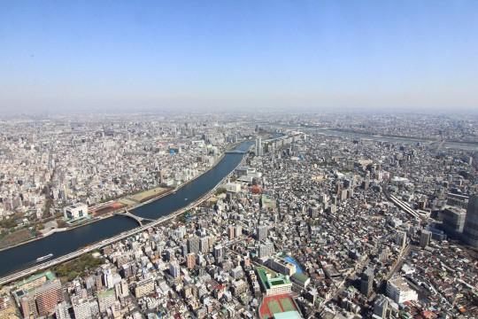 スカイツリーから見た東京