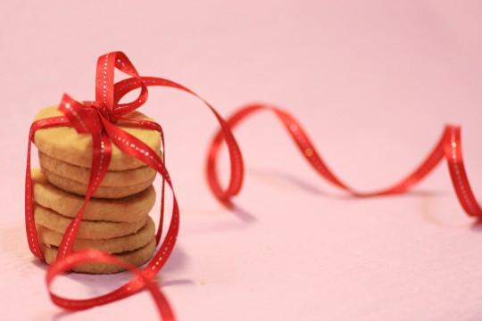 クッキーとリボン