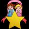 星に乗った織姫と彦星