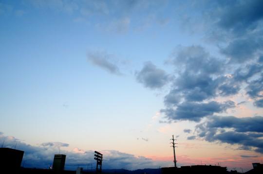 桃色の夕暮れ