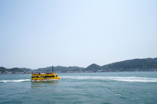 関門海峡のフェリー