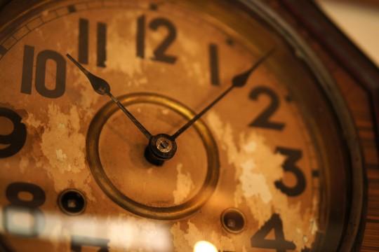 歴史を感じさせる時計