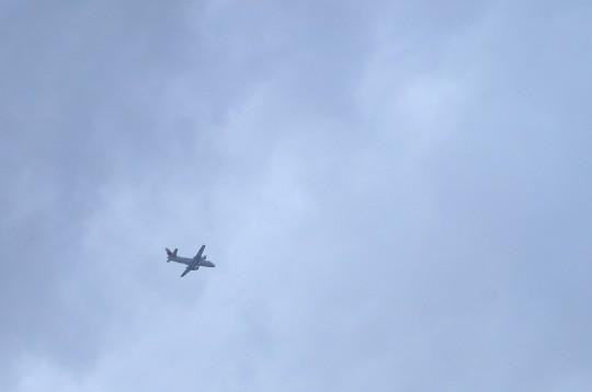 雪の日の飛行機