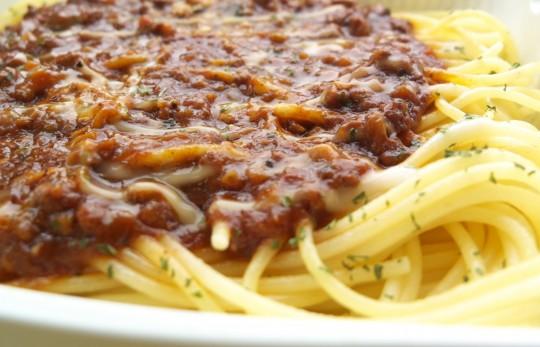 ミートソーススパゲティー1