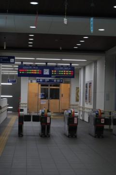駅の改札口
