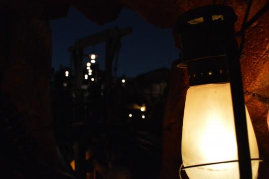 ランタンと夜景