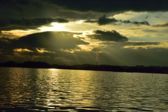 松島の夕日