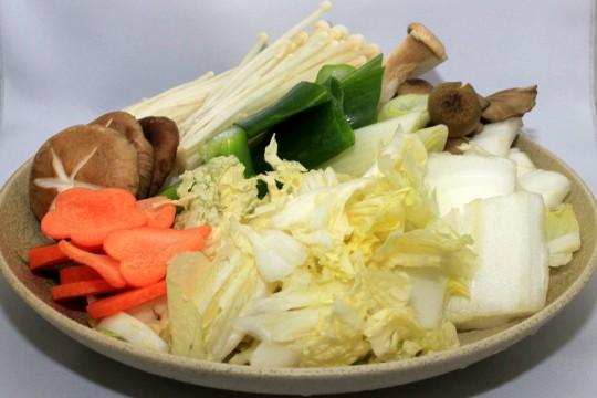 鍋に入れる野菜セット