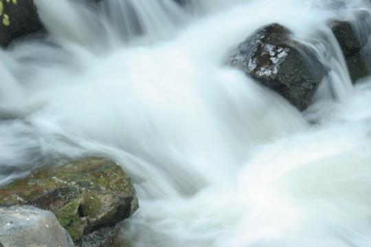 浅川ループ橋の下の渓流3