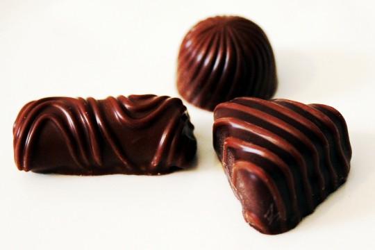 いろんな形のチョコレート