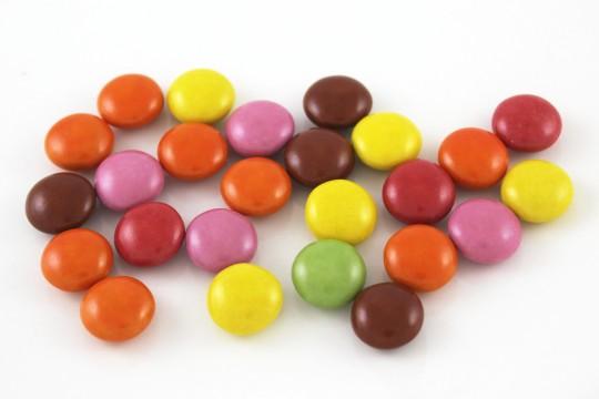 マーブルチョコレートの粒