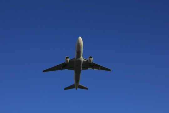 青空の飛行機