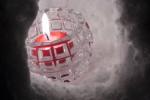 雪の中のキャンドル
