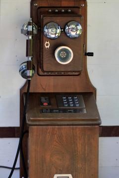 レトロな公衆電話
