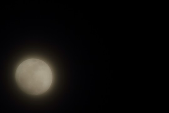 朧げな満月
