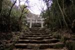階段の先の鳥居