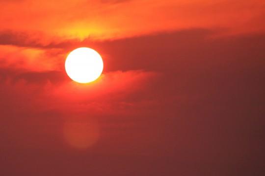 赤い日の出