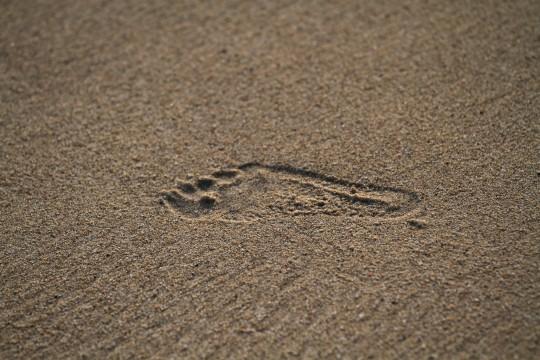 子供の足跡