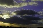 夕日の光芒