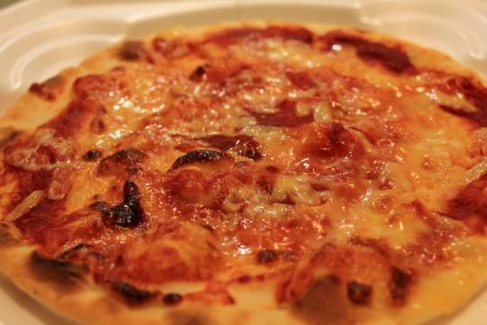 ピザの表面