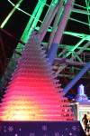 光るシャンパンタワー2