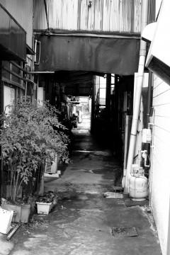 薄暗い路地裏