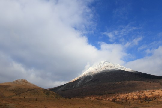 雪山と青空
