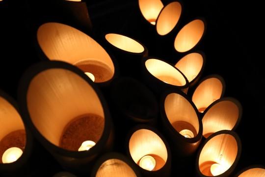 竹キャンドル