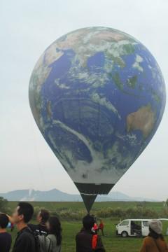 地球模様の気球