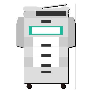 コピー機のイラスト