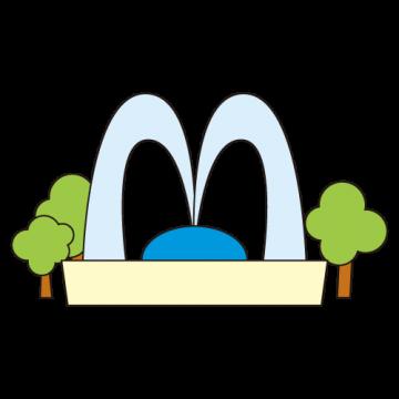 施設アイコン 噴水