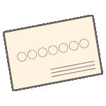 封筒(横書き)