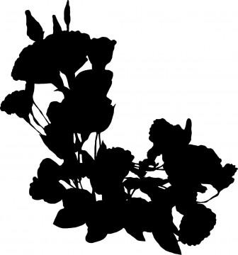 花シルエット1