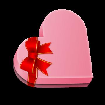 ハート型のプレゼント箱