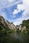 日向神峡のハート岩