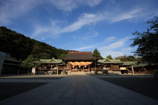 夕暮れの宮地嶽神社