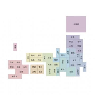 デフォルメ日本地図1