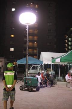 工事用の屋外ライト