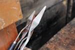 使い古されたペインティングナイフ