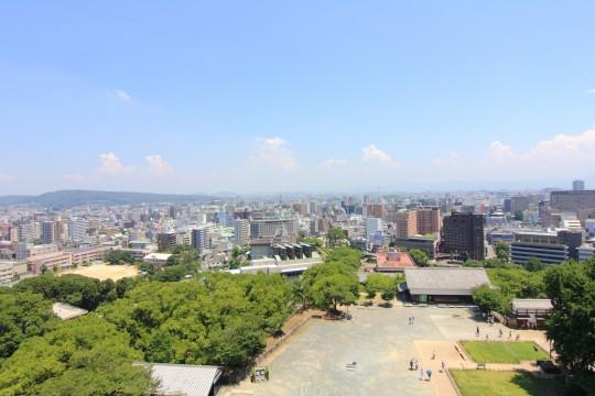 熊本城から眺める景色