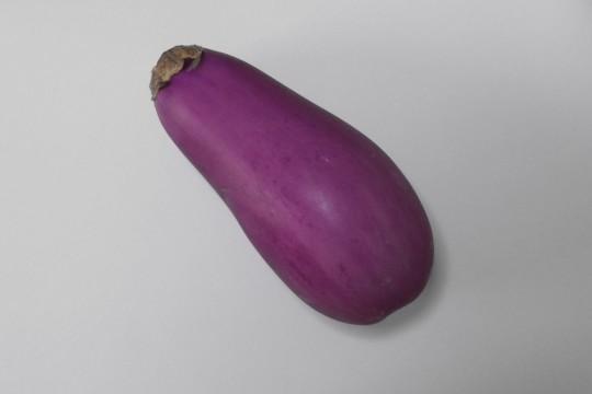 綺麗な紫色のなすび