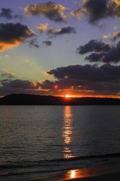 日没の海岸