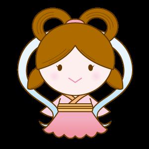 織姫のイラスト素材