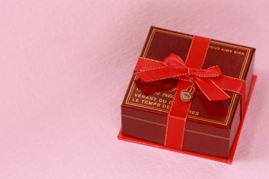 バレンタインのプレゼントボックス